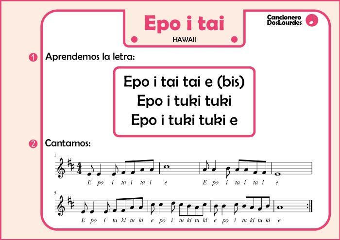 Ficha cancionero popular español, lenguaje musical infantil partitura y letra