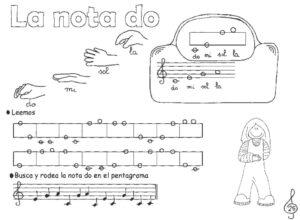Grupo de fichas lenguaje musical primero, muestra del libro