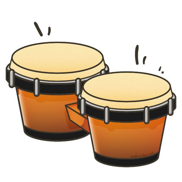 """Ilustración instrumento musical """"bongo"""", recursos musicales, educación musical"""