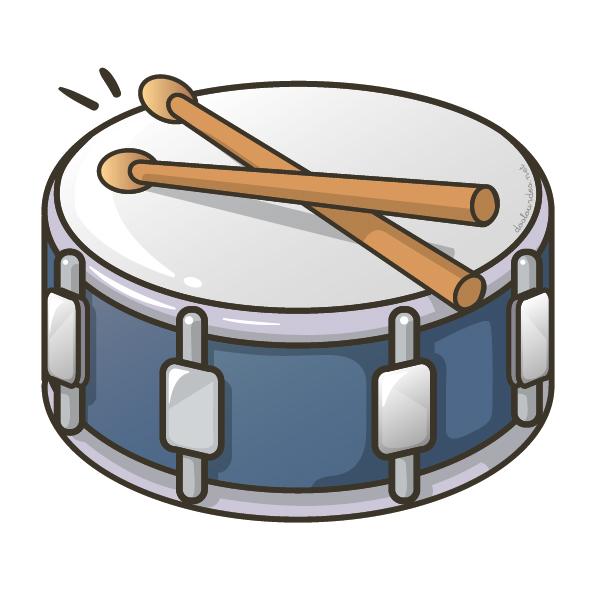 "Ilustración instrumento musical ""caja"", recursos musicales, educación musical"