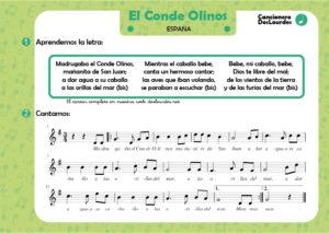 """Canción popular """"El Conde Olinos"""", canciones populares españolas infantiles"""