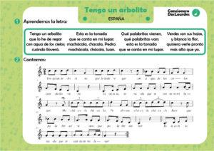 """Canción popular """"Tengo un arbolito"""", canciones infantiles de siempre, partiruras"""