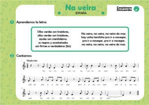 "Canción popular ""Na veira"", letras de canciones infantiles antiguas"