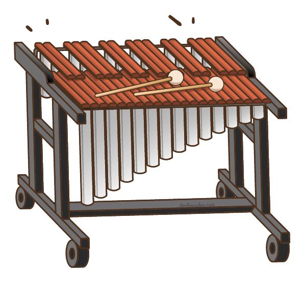 """Ilustración instrumento musical """"marimba"""", recursos musicales, educación musical"""