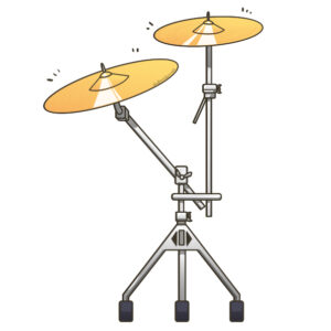 "Ilustración instrumento musical ""platos"", recursos musicales, educación musical"